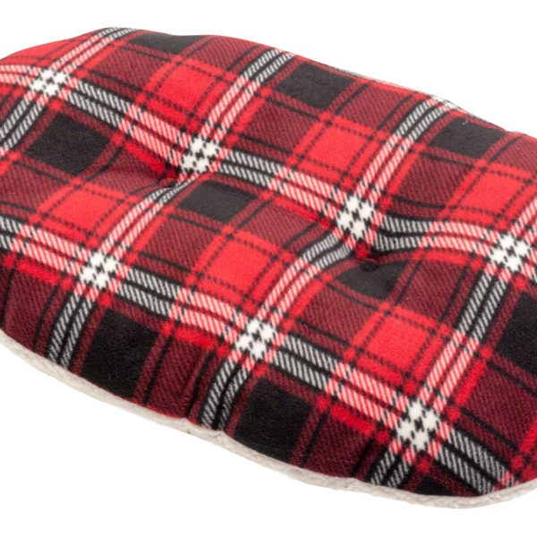 Petface Red Tartan Oval Cushion Wynnes Of Dinmore